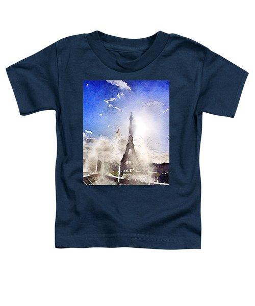 Eiffel During Summer Toddler T-Shirt