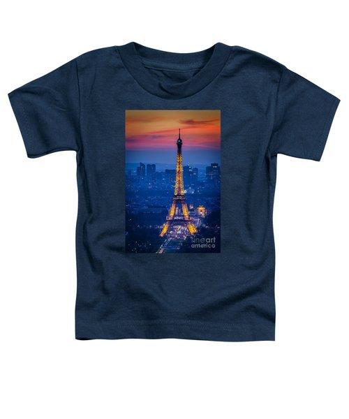 Eiffel Tower At Twilight Toddler T-Shirt