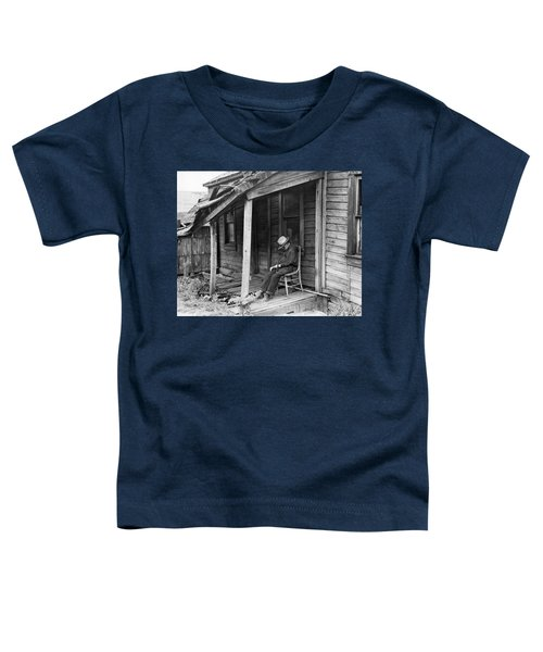 Elderly Man Doses On His Porch Toddler T-Shirt