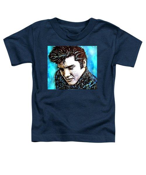 Elvis Presley Never Left The Building Alcohol Inks Toddler T-Shirt