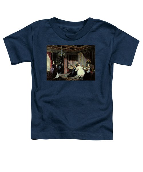 Empress Catherine The Great 1729-96 Receiving A Letter, 1861 Oil On Canvas Toddler T-Shirt
