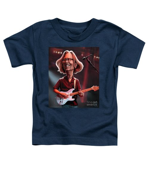 Eric Clapton Toddler T-Shirt by Andre Koekemoer