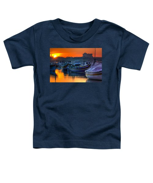 Fishing Boats In Birzebuggia Harbour Toddler T-Shirt