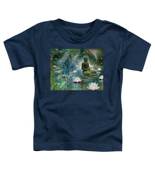 Floating Lotus Buddha Toddler T-Shirt