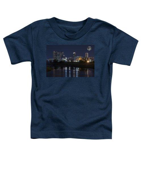Fort Worth Skyline Super Moon Toddler T-Shirt