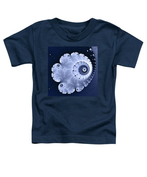 Fractal Spiral Light And Dark Blue Colors Toddler T-Shirt