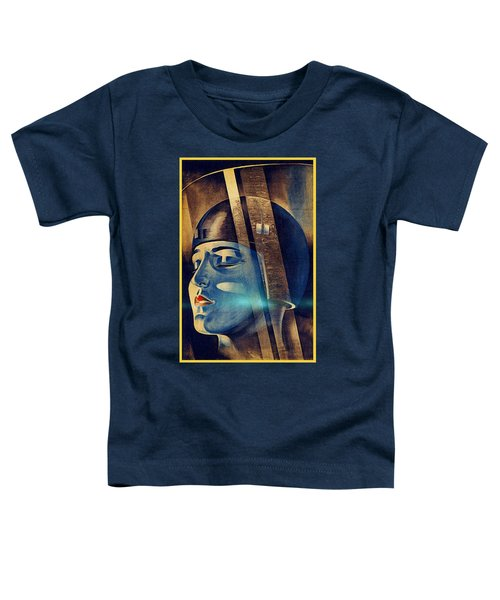 Toddler T-Shirt featuring the digital art Fritz Lang's Metropolis Poster by Joy McKenzie