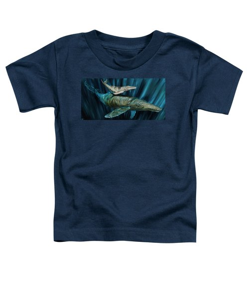 Graywhale Momma And Calf Toddler T-Shirt