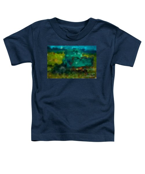 Green Truck In Abstract Toddler T-Shirt