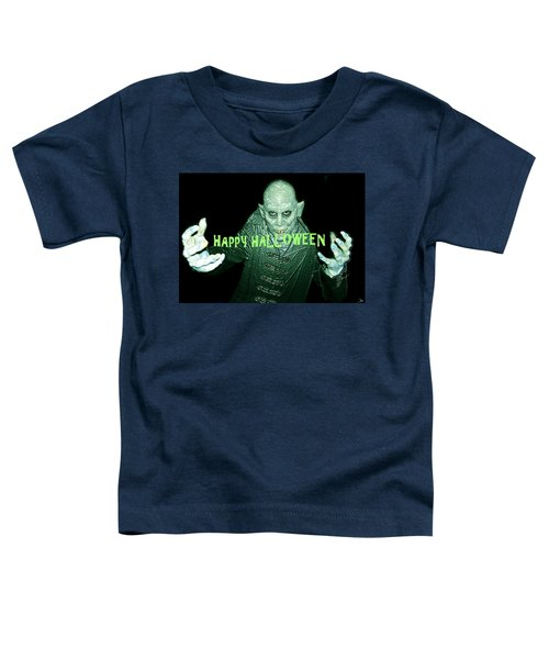 Happy Halloween The Count Toddler T-Shirt