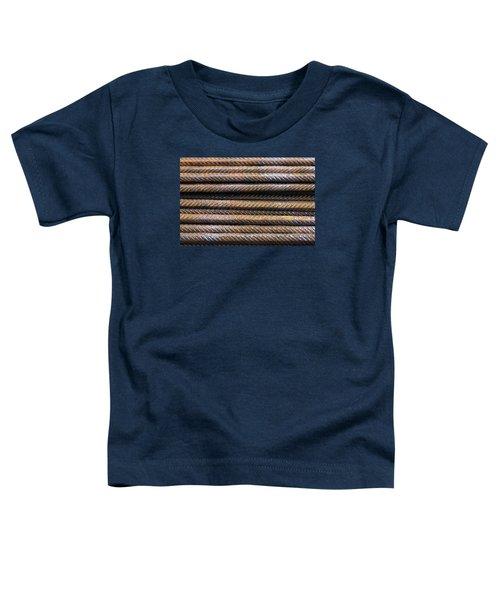 Hard Metal Rebar Pattern Toddler T-Shirt