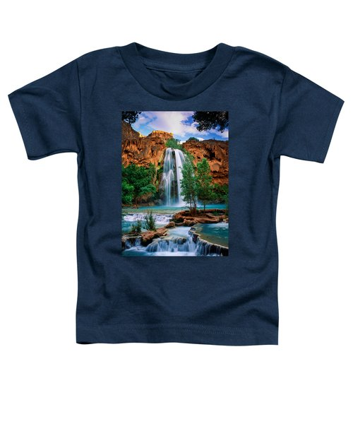 Havasu Cascades Toddler T-Shirt by Inge Johnsson