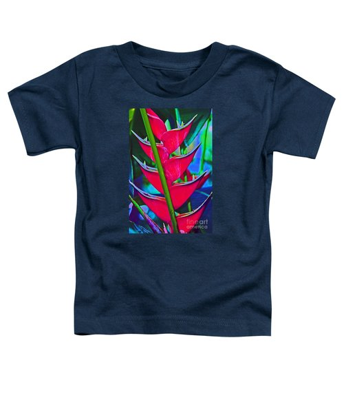 Heliconia Abstract Toddler T-Shirt