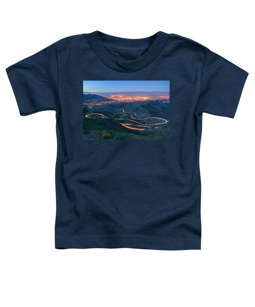 Highway 74 Palm Desert Ca Vista Point Light Painting Toddler T-Shirt