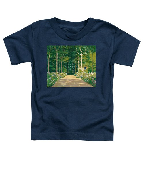 Hydrangeas On A Garden Path Toddler T-Shirt