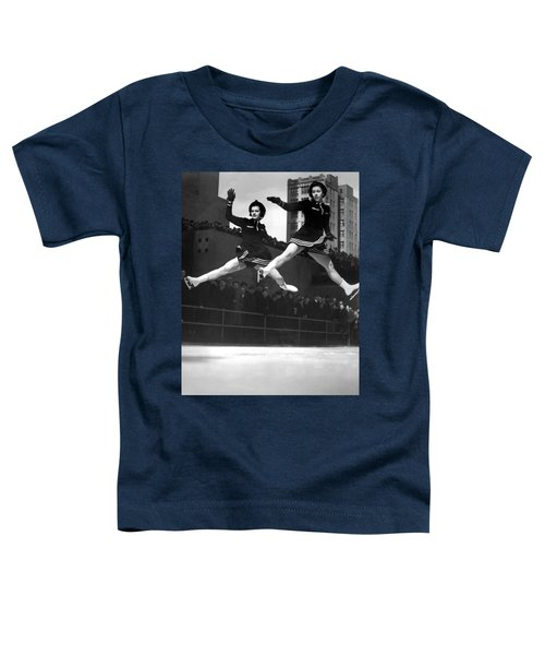 Ice Skaters Perform In Ny Toddler T-Shirt