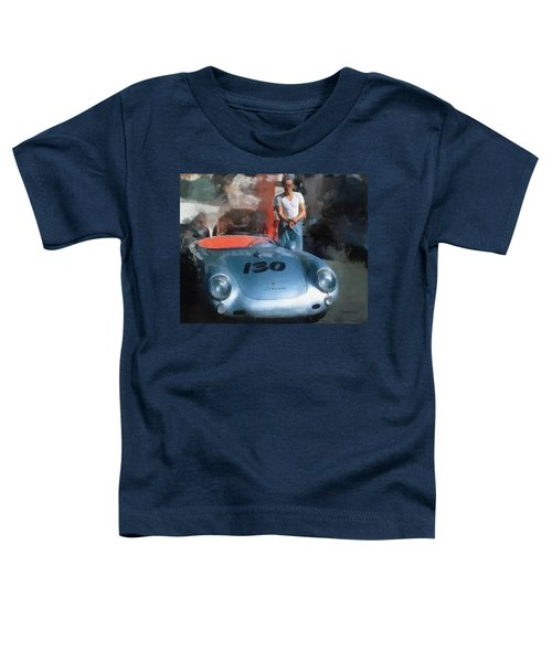 James Dean With His Spyder Toddler T-Shirt