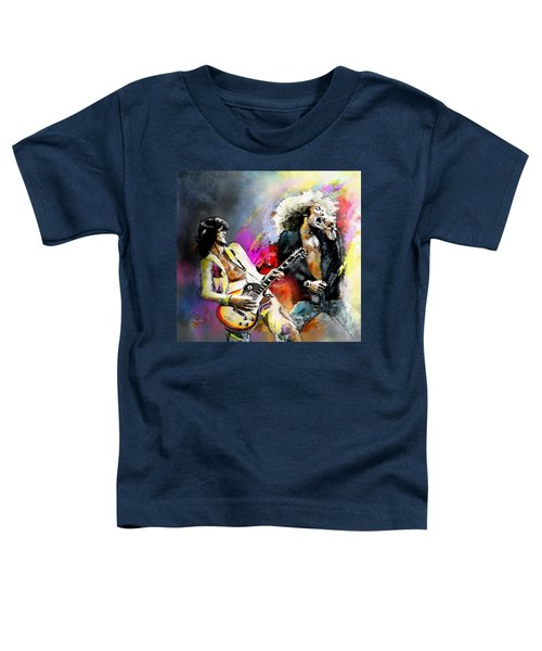 Jimmy Page And Robert Plant Led Zeppelin Toddler T-Shirt
