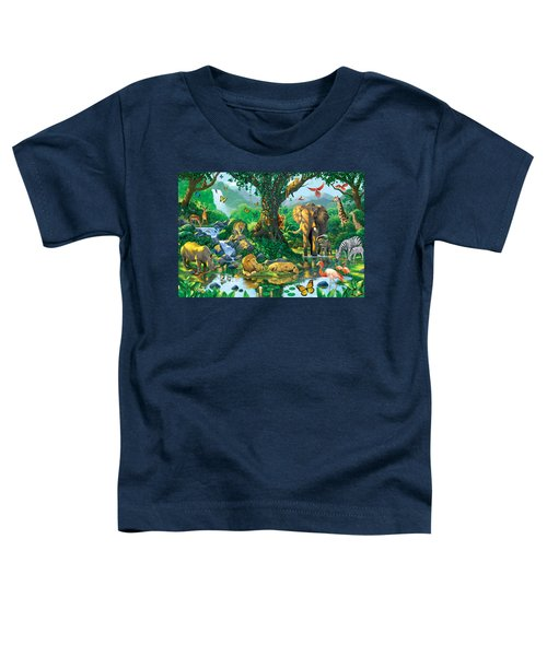 Jungle Harmony Toddler T-Shirt by Chris Heitt