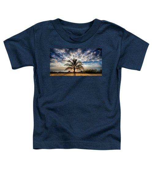 Key West Florida Lone Palm Tree  Toddler T-Shirt