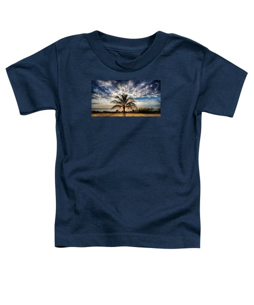 Key West Florida Lone Palm Tree  Toddler T-Shirt