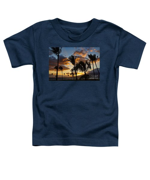 Kihei At Dusk Toddler T-Shirt by Peggy Hughes