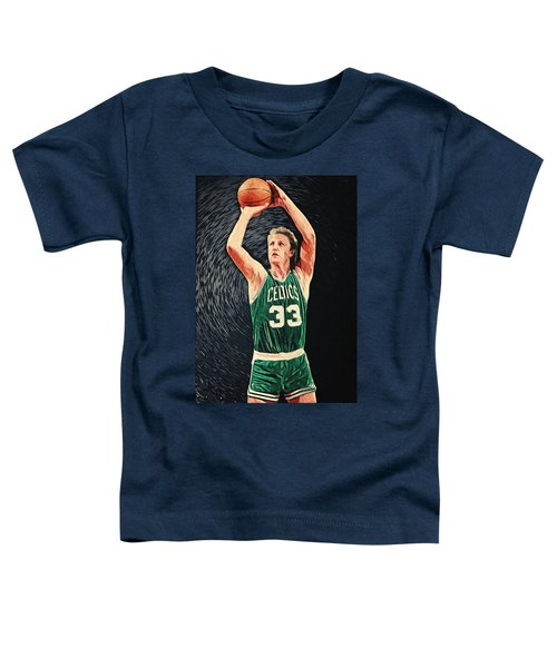 Larry Bird Toddler T-Shirt by Taylan Apukovska