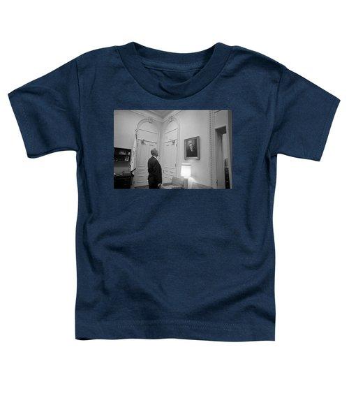 Lbj Looking At Fdr Toddler T-Shirt
