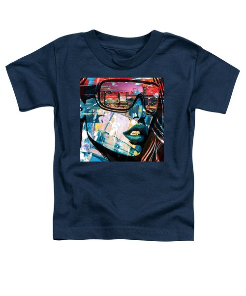 Los Angeles Skyline Toddler T-Shirt by Corporate Art Task Force