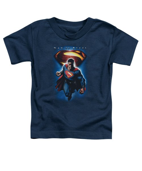 Man Of Steel - Superman And Symbol Toddler T-Shirt