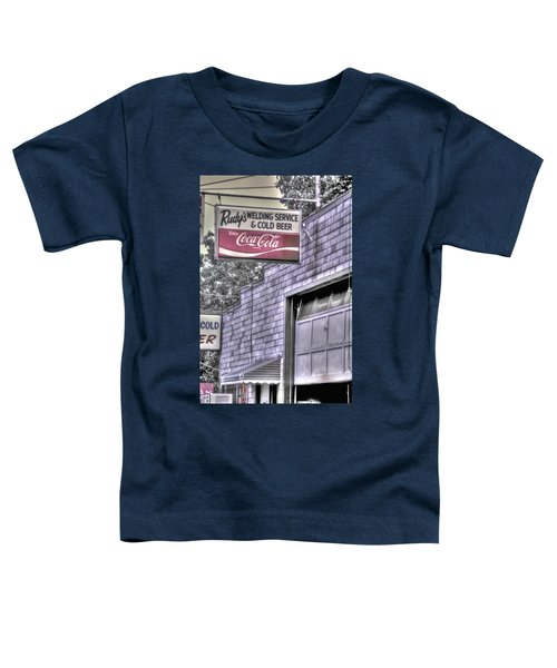 Maryland Country Roads - Some Things Just Go Together No. 1 - Rudys Welding And Cold Beer Toddler T-Shirt