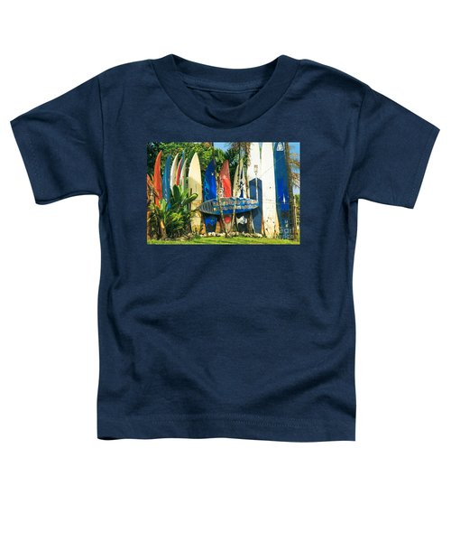 Maui Surfboard Fence - Peahi Hawaii Toddler T-Shirt