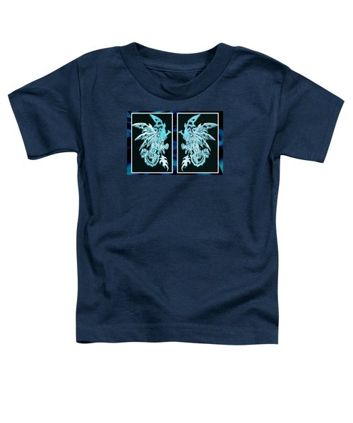Mech Dragons Diamond Ice Crystals Toddler T-Shirt