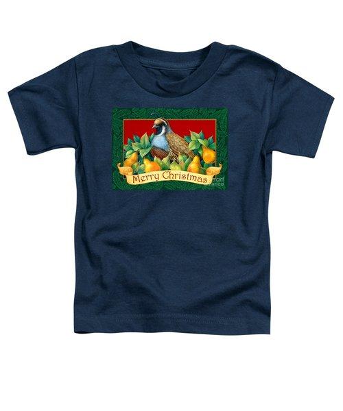 Merry Christmas Partridge Toddler T-Shirt