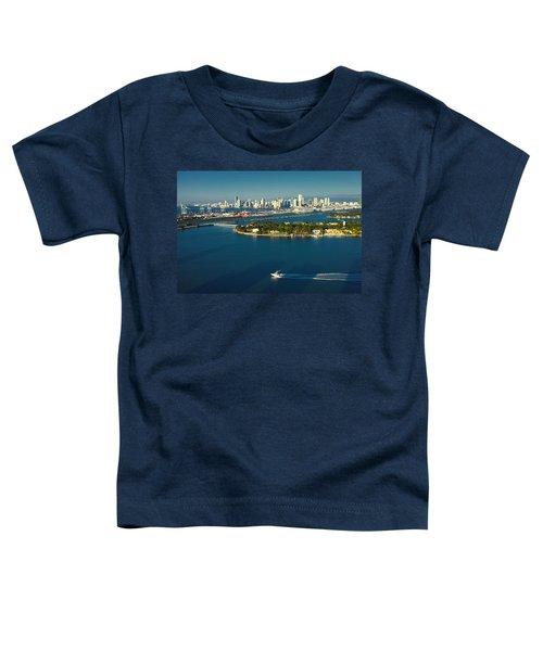 Miami City Biscayne Bay Skyline Toddler T-Shirt
