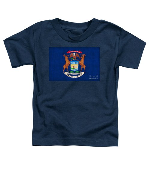 Michigan State Flag Toddler T-Shirt by Pixel Chimp