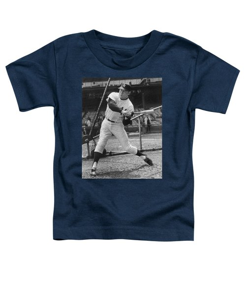 Mickey Mantle Poster Toddler T-Shirt by Gianfranco Weiss