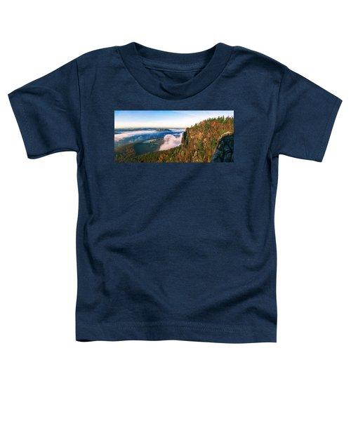 Mist Flow Around The Fortress Koenigstein Toddler T-Shirt