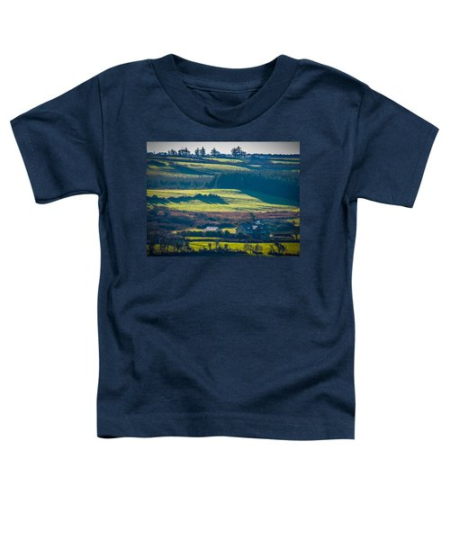 Toddler T-Shirt featuring the photograph Morning Shadows Over Irish Countryside by James Truett
