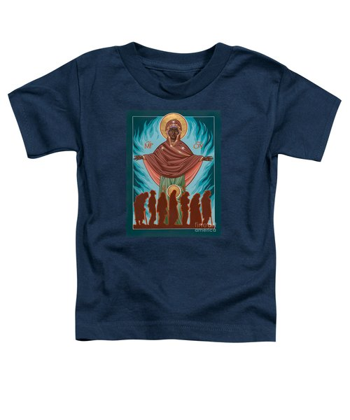 Mother Of Sacred Activism With Eichenberg's Christ Of The Breadline Toddler T-Shirt
