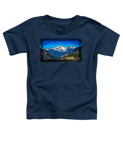 Mt Gardner In The Spring Abstract Painting  Toddler T-Shirt