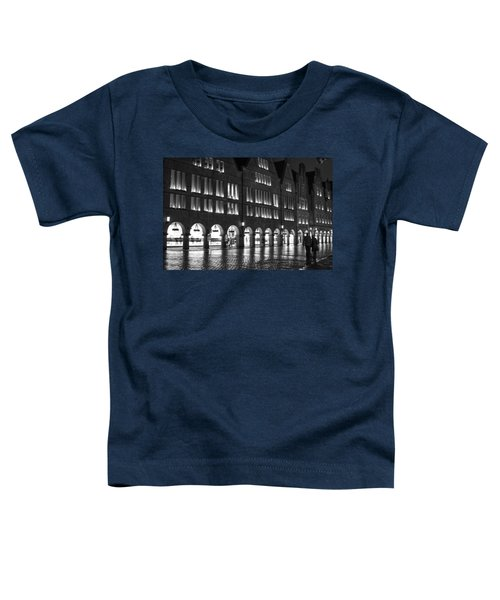 Cobblestone Night Walk In The Town Toddler T-Shirt
