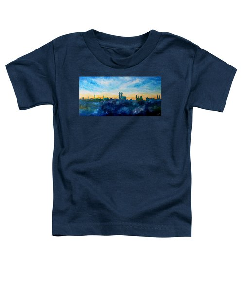 Munich Skyline With Church Of Our Lady Toddler T-Shirt