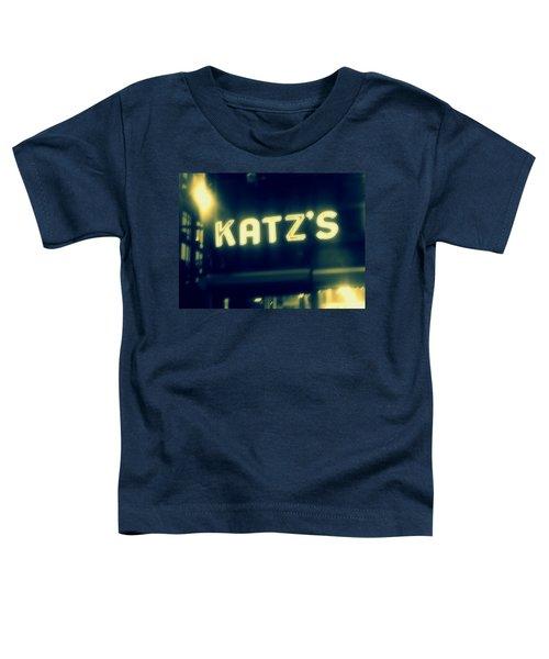 Nyc's Famous Katz's Deli Toddler T-Shirt by Paulo Guimaraes