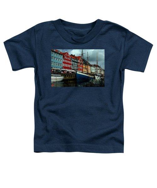 Toddler T-Shirt featuring the photograph Nyhavn Copenhagen by Colette V Hera  Guggenheim