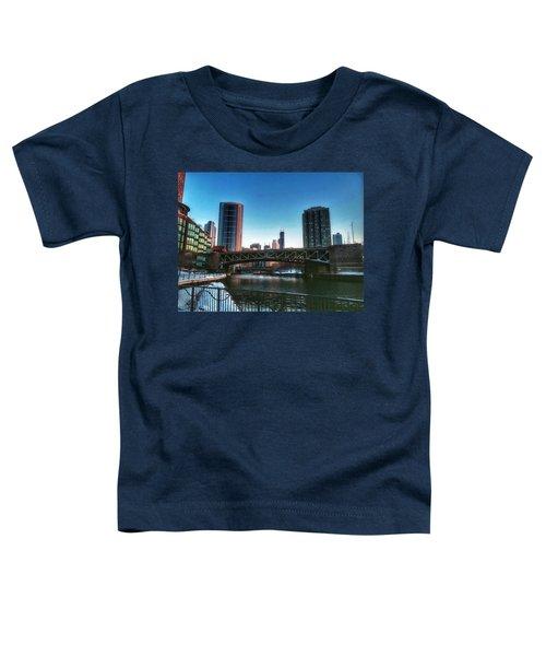 Ohio Street Bridge Over Chicago River Toddler T-Shirt