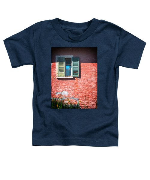 Toddler T-Shirt featuring the photograph Old Window With Reflection by Silvia Ganora