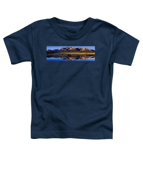 Panorama Reflections Sawtooth Mountains Nra Idaho Toddler T-Shirt