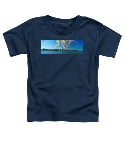 Panoramic View Of Jefferson Memorial Toddler T-Shirt by Panoramic Images