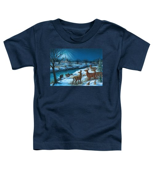 Peaceful Winters Night Toddler T-Shirt